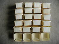 "24    WOODEN STRAWBERRY BOXES  ""QUART SIZE"" WOOD BERRY BOXES FOR CRAFTS"