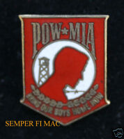 POW MIA HAT LAPEL PIN US ARMY MARINES NAVY USCG AIR FORCE VETERAN VET MILITARY