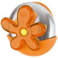 Koziol A-Pril, sapone in acciaio inossidabile, con sostegno, arancione