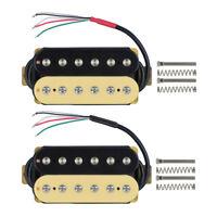 1 Set of Zebra Cream/Black Electric Guitar Pickups Bridge Neck Pickup