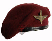 Small Repo Maroon Parachute Regiment Beret + Cap Badge ( Re-enactors cadets NEW