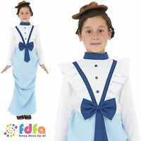 OLD ENGLAND NANNY POSH VICTORIAN BOOK DAY 4-12 childs girls fancy dress costume