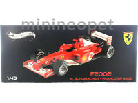 HOT WHEELS ELITE X5513 FERRARI F1 F2002 FRANCE GP 2002 1/43 MICHAEL SCHUMACHER