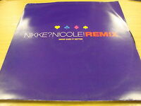 "Nikke Nicole I Believe (PS) 12"" Vinyl Single Diff Mixes"
