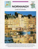 FFA - Normandy Land of Calvados - Western Europe - Fact file Card