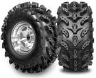 SET OF 2 25X10-11 REAR AND 2 25X8-12 FRONT SWAMP LITE 6 PLY ATV TIRES MUD