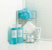 Ocean Oasis Bath Metal Caddy Spa Set Gel Lotion Vream Bath Fizzers Sponge & More