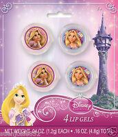 Disney Princess Tangled Rapunzel Glitter Lip Gloss 4pcs Party Favors Supplies