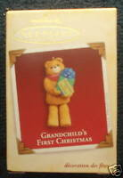 Hallmark Ornament bear Grandchild's first 1st Christmas 2005 NEW in box