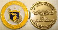 USS MICHIGAN SSBN-727 DEATH FROM BELOW NAVY MILITARY  SUBMARINE CHALLENGE COIN