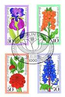 Berlin 1976: Gartenblumen Wohlfahrtmarken Nr 524-527 mit Ersttagsstempel 1A 1510
