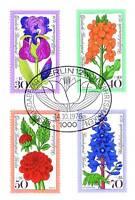 Berlin 1976: Gartenblumen! Wohlfahrtmarken Nr. 524-527 mit Ersttagsstempel! 1606
