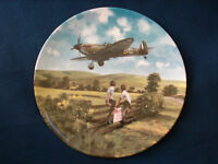 """Royal Doulton Heroes Of The Sky """"Spitfire Coming Home """"plane  plate"""