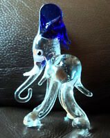 SWEET LITTLE MURANO GLASS ANIMAL, CHUNKY BLUE EARED ELEPHANT STOCKING FILLER?