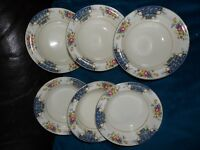 A J WILKINSON SET OF 6 FRUIT BOWLS CLARICE CLIFF?