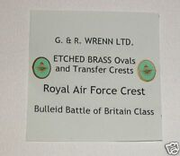 WRENN Brass model railway R.A.F. B of Britain Shields and Crests
