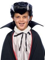 Child Dracula Wig Vampire Boys Vamp Gothic Black Grey Monster Costume Accessory