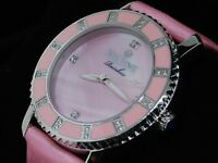 Ladies Icetime Joe Rodeo .2ct Diamond Pink Fabric Watch