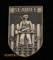 US NAVY SEA BEE CONSTRUIMUS BATUIMUS HAT PIN