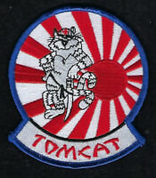 F-14 TOMCAT HAT PATCH TOP GUN USS US NAVY NAS RISING SUN VF-111 JAPAN PIN UP WOW