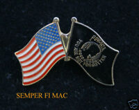 POW MIA USA FLAG HAT PIN US NAVY ARMY AIR FORCE MARINES VIETNAM WAR GIFT VETERAN