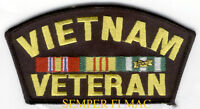 VIETNAM VETERAN PATCH VET PIN UP US MARINES NAVY ARMY AIR FORCE COAST GUARD WOW