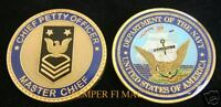 MASTER CHIEF PETTY OFFICER MCPO CHALLENGE COIN US NAVY PIN UP PROMOTION GIFT WOW