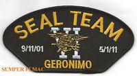 SEAL TEAM SIX 6 GERONIMO PATCH US NAVY OSAMA BIN LADEN 911 USS SOCAM US ARMY WOW