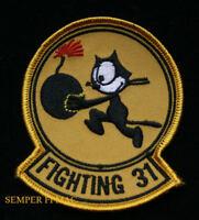 VF-31 TOMCATTERS HAT PATCH US NAVY VETERAN FELIX CAT F14 F18 F4B VF6 SQUADRON