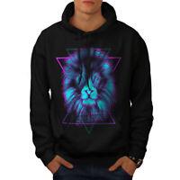 Wellcoda New Mens Hoodie, Animal Casual Hooded Sweatshirt