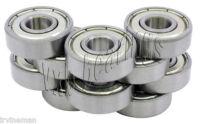 "(Qty.10) R6-ZZ metal shields bearing R6ZZ ball bearings 3/8"" x 7/8""x 9/32"" inch"