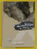 Explorer SUV S U V 03 2003 Ford Owners Owner's Manual 4X4 4X2 All Models