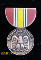 NATIONAL DEFENSE MEDAL HAT LAPEL VEST PIN US ARMY MARINES NAVY AIR FORCE USCG