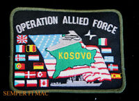 KOSOVO PATCH OP ALLIED FORCE BOMBING US MARINES NAVY ARMY AIR FORCE PIN UP USCG