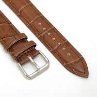 20 mm Brown Leather Men Watch Band Strap CROCO Fits 20mm Lug Size Watch