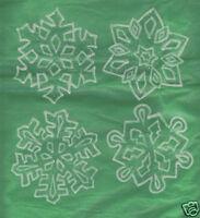 4 glow-n-dark and glitter snowflake window clings