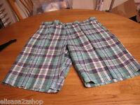 Men's Tommy Hilfiger shorts plaid green $69.50 34 W NEW NWT walk casual 7817662