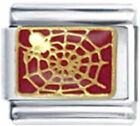 SPIDER ON SPIDER WEB Enamel Italian Charm 9mm Link-1x AN083 Single Bracelet Link