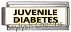 JUVENILE DIABETES MEDICAL ALERT ID Italian Charm 9mm x1 ME185 Single SuperLink