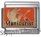 MANICURE MANICURIST Enamel Italian Charm 9mm Link- 1x NC040 Single Bracelet Link