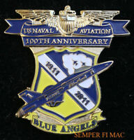 2011 BLUE ANGELS HAT PIN 100TH ANNIVERSARY US NAVAL AVIATION NAVY MARINES WING