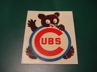 SWEET VINTAGE 1950's Chicago Cubs Logo Transfer/Decal, SUPER NICE!!