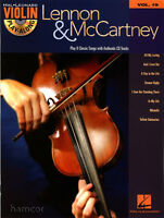 Lennon and McCartney Violin Play-Along Volume 19 Music Book with CD The Beatles