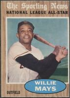 1962 Topps Willie Mays San Francisco Giants AS #395 NM Condition