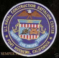 SEABEE Construction Battalion CBC PORT HUENEME CA PATCH US NAVY VETERAN GIFT WOW