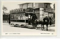 p#M575 L.C.C Horse tram - Oakeys wellington knife polish postcard