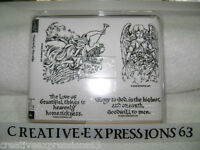 Stampin' Up 2005 Heavenly Heralds Set Of 4 B/N U/M