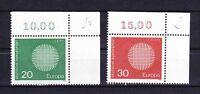 Germany Bund BRD 1970 Mi 620-621 ** MNH Europa CEPT Ecke 2