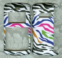 Rubberized zebra cute faceplate PHONE HARD COVER CASE LG ENV 3 VX9200 VERIZON