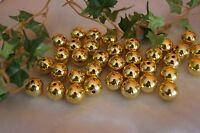 Perlen Bastelperlen 14mm  Dekoration Hochzeit Goldhochzeit 35St metallic gold